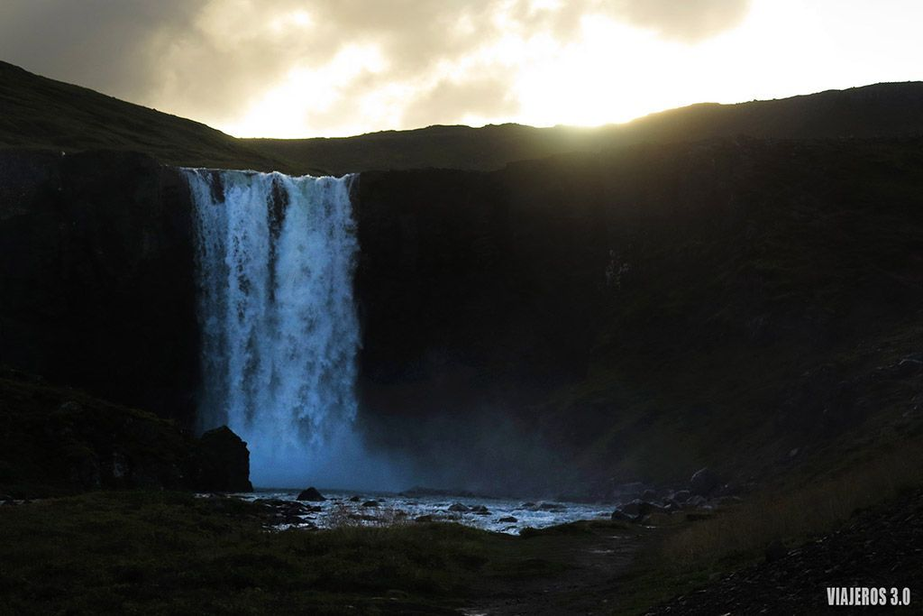 Cascada Gufufoss, ruta por Islandia