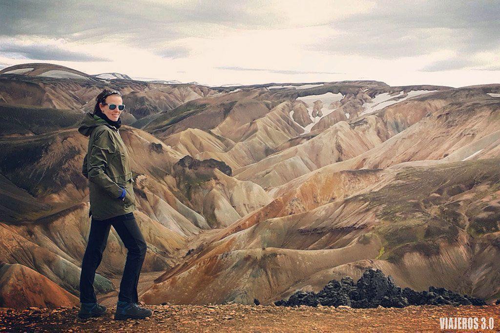 paisajes y trekking en Landmannalaugar