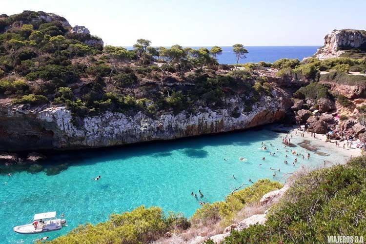 Playa Caló des Moro en una ruta por Mallorca