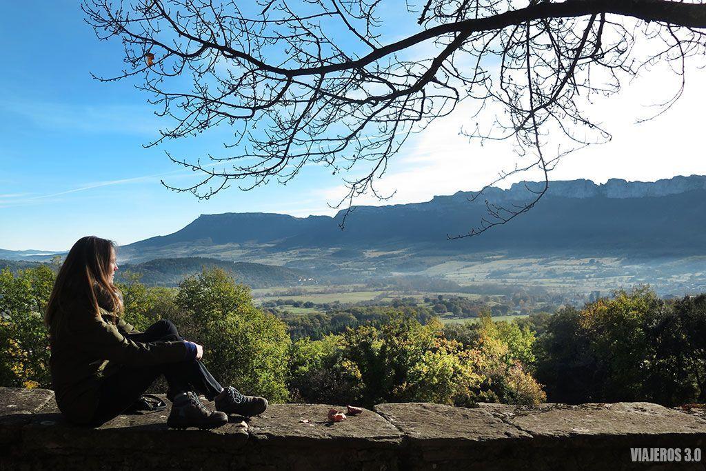 Vistas desde el Santuario de Cantonad, Valle de Mena en Burgos