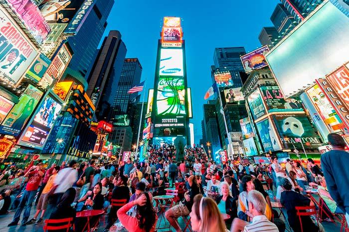 Times Square. Nueva York en 4 o 5 días