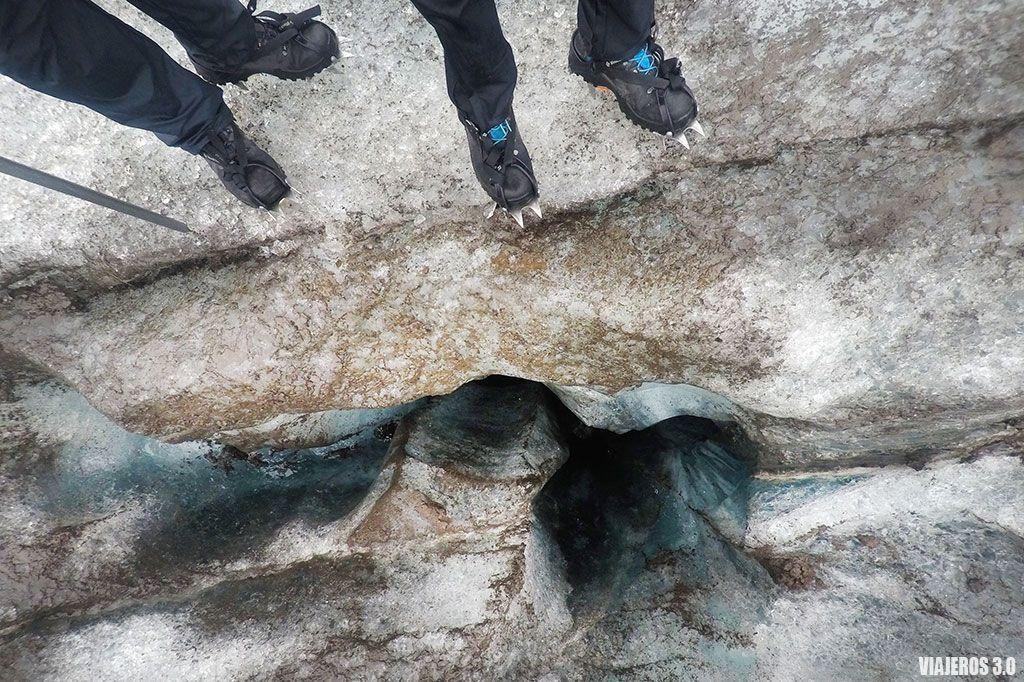 Trekking glaciar en Islandia