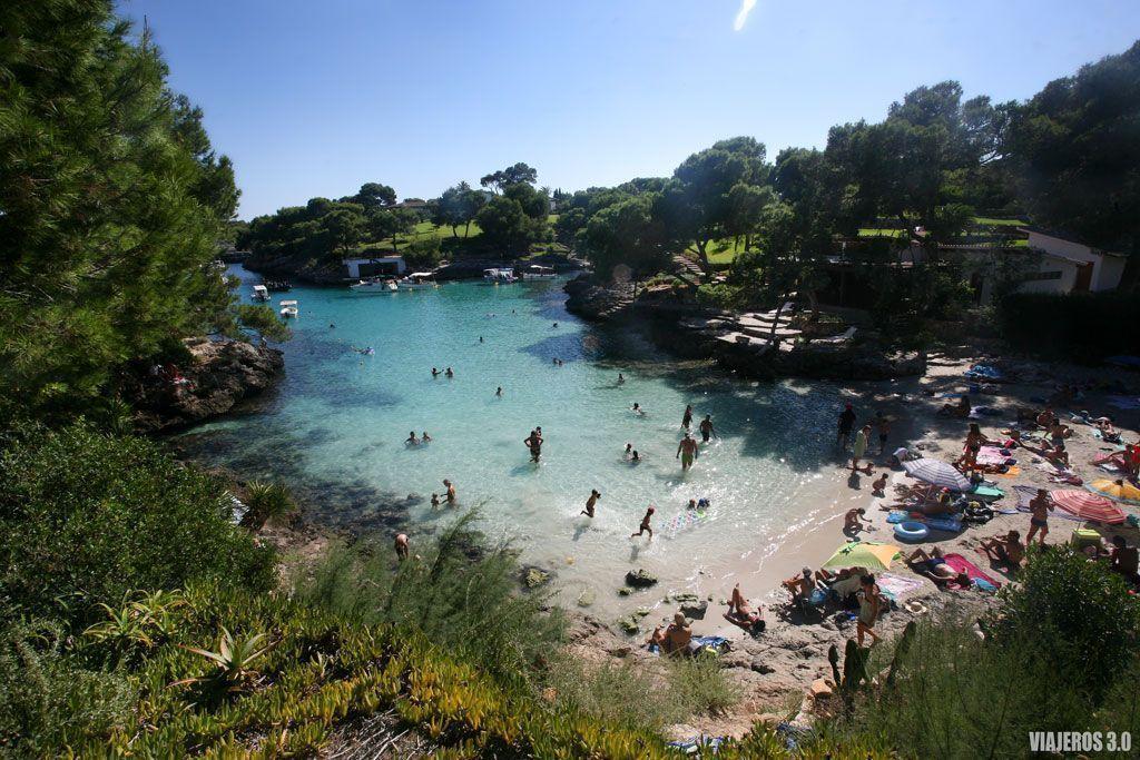 Cala Mitjana en el sur de Mallorca.