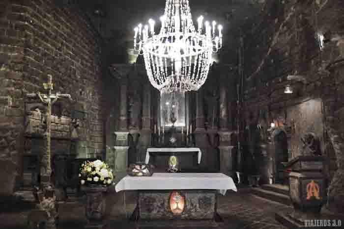 Minas de Sal de Wieliczka, capilla de Santa Kinga en visita guiada.
