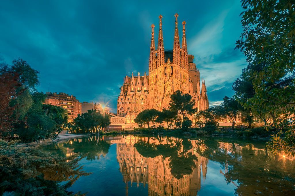 Fachada de la Sagrada Familia, ruta del modernismo en Barcelona