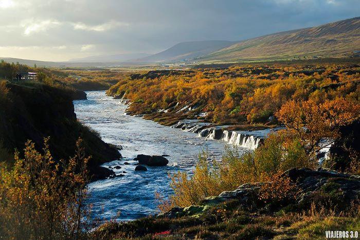 Cascadas de Islandia: Hraunfossar