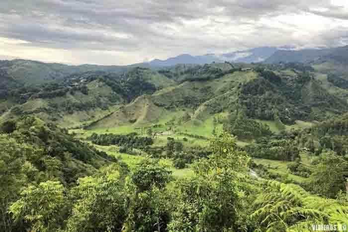 Vista panorámica del Valle de Cocora