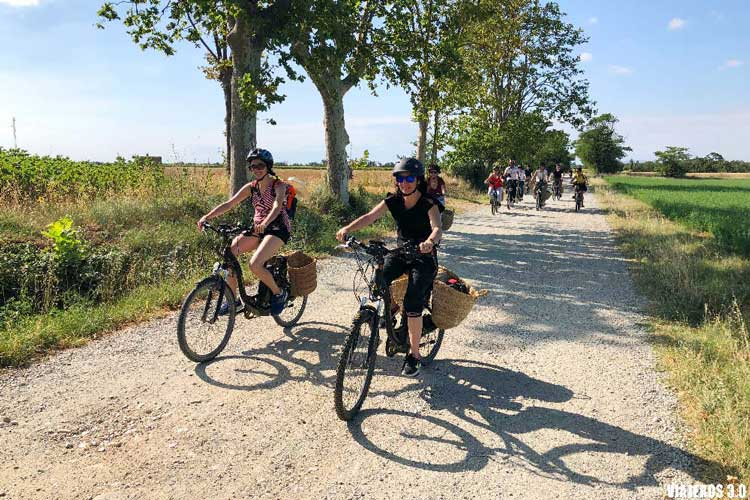 Bicicletas eléctricas en Aiguamolls