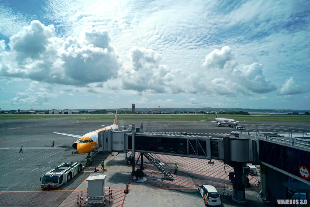 Aeropuerto internacional de Bali.