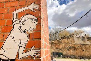 Murales en Tubilla del Lago, provincia de Burgos