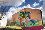 Colores y arte en los murales de Tubilla del lago en Burgos