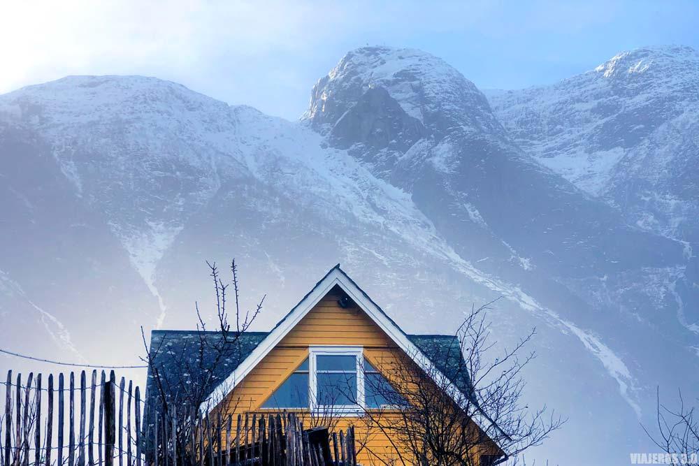 Casitas de colores en Eidfjord.