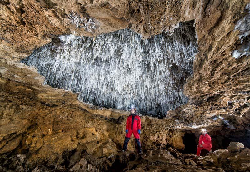 Espeleología en la cueva del Soplao