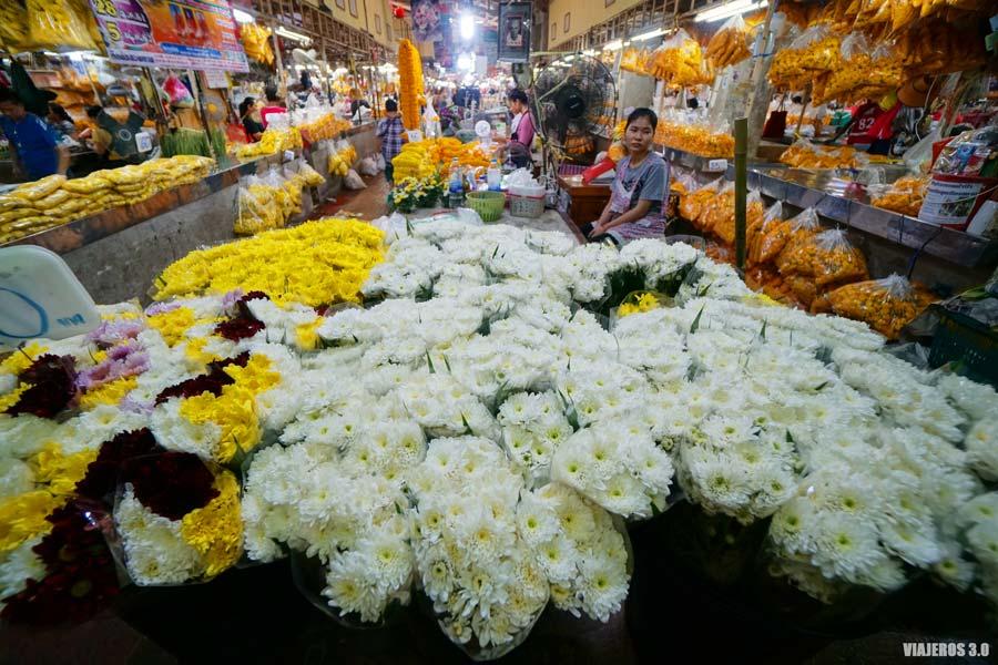Mercado de las flores en Chiang Mai
