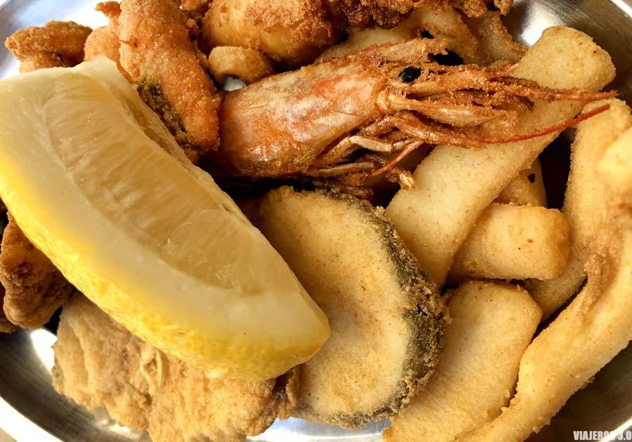 Pescaito frito en Cádiz.