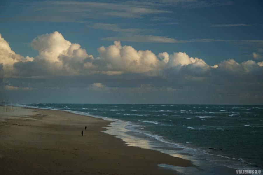 Playa Victoria en Cádiz.