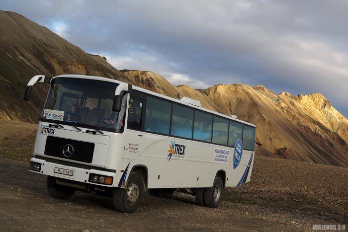 Cómo llegar a Landmannalaugar en bus.