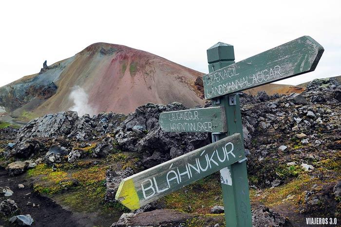 Indicaciones trekking Landmannalaugar.