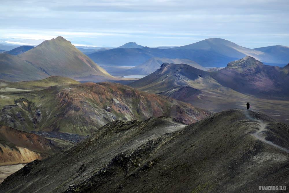 Ruta por Landmannalaugar en Islandia.
