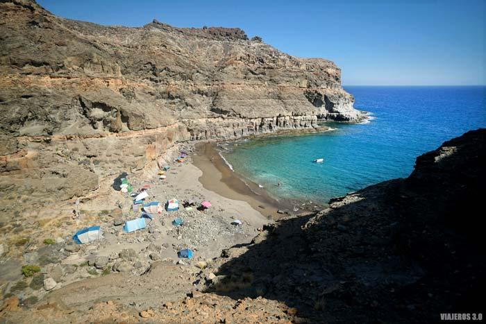 Panorámica de la playa de Aguadulce.