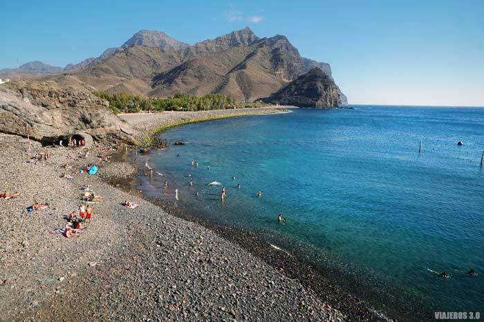 Playa de la Aldea de San Nicolás.