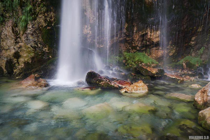 La cascada de Grunas en Theth.
