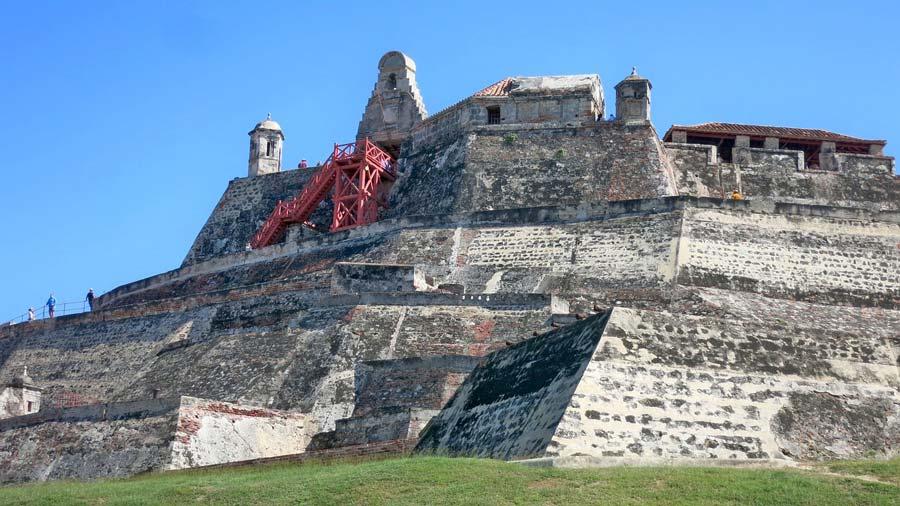 Castillo de San Felipe en Cartagena de Indias.