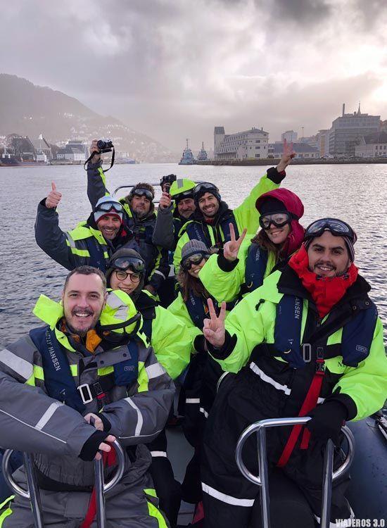 excursiones que hacer en los Fiordos Noruegos: zodiac en Bergen