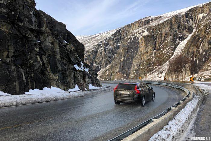 Carreteras en Eidfjord