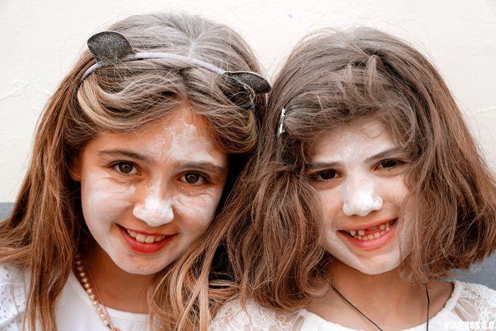 Guerra de polvos de talco, Carnaval de Los Indianos