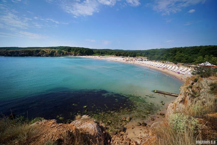 Butamyata Beach en la costa del Mar Negro