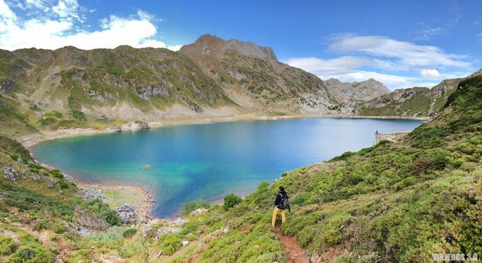 Vista panorámica de lagos de Saliencia.