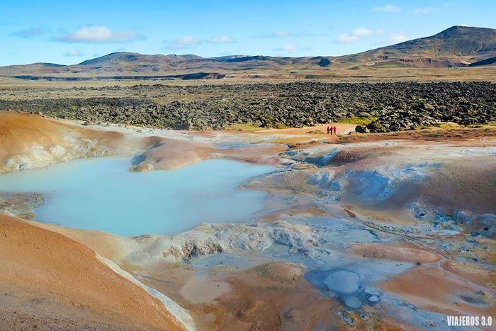 aguas termales en Islandia, Krafla.
