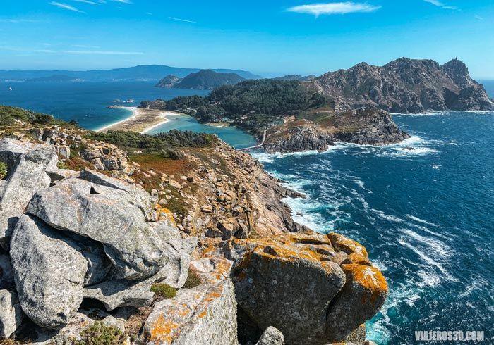 Mirador Alto de Príncipe en las islas Cíes.