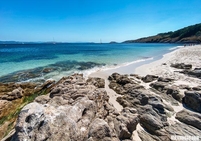Playas de Galicia, playa de Melide en Ons