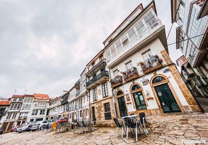 Centro histórico de Pontedeume, Galicia.