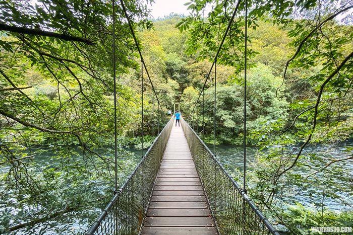 Puente colgante de Cal Grande en Fragas do Eume