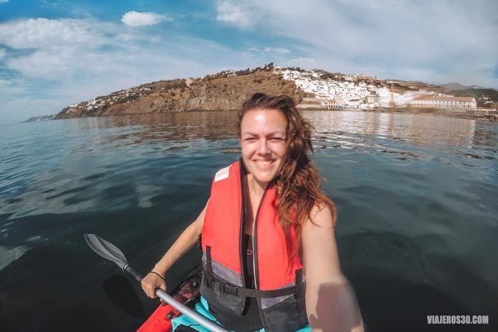 Kayak en Salobreña, Costa Tropical de Granada.