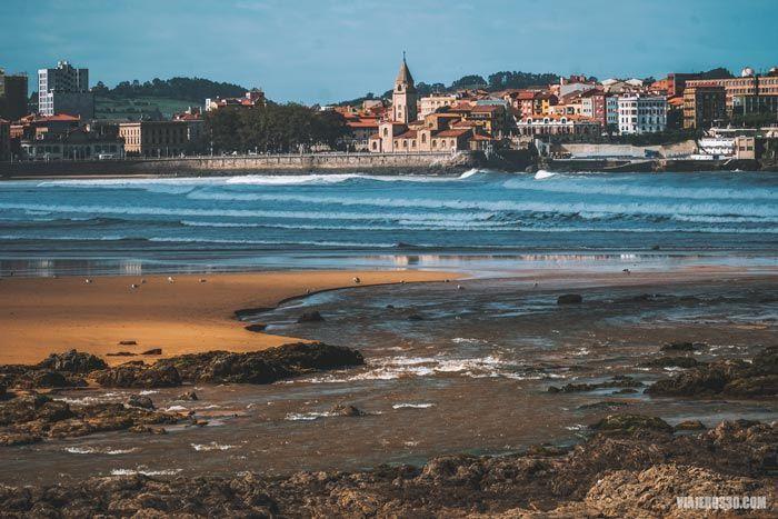 Panorámica de la ciudad de Gijón.