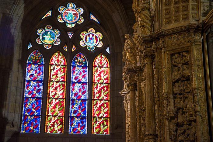 Interior de la Catedral de León, visitas.