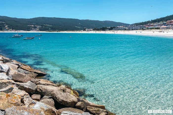 Playa de Laxe en Galicia