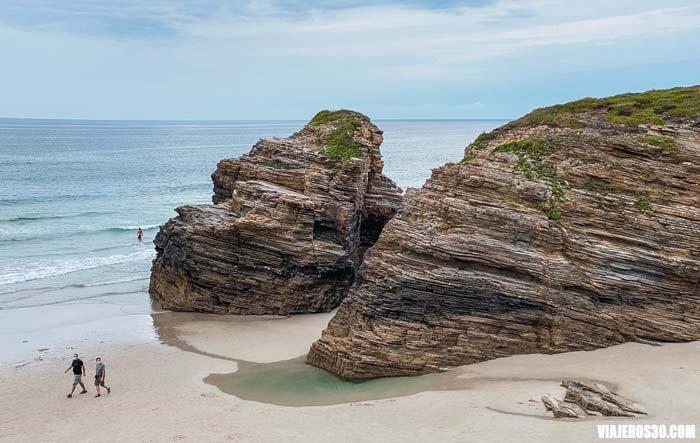 Playa de las Catedrales en Lugo, Galicia