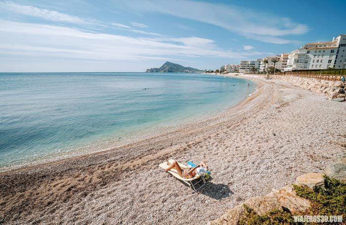 Playa de cap Negret en Altea.