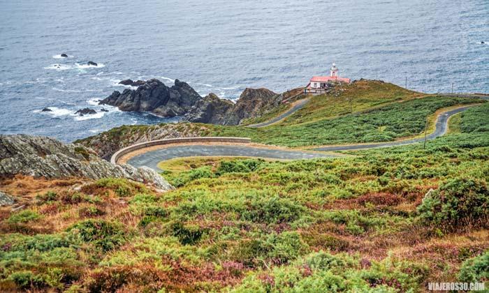 Faro Punta de Candieira en La Coruña, Galicia
