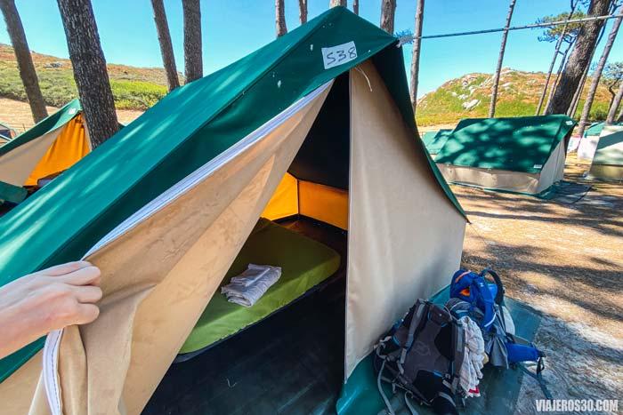 Camping de las Islas Cíes.