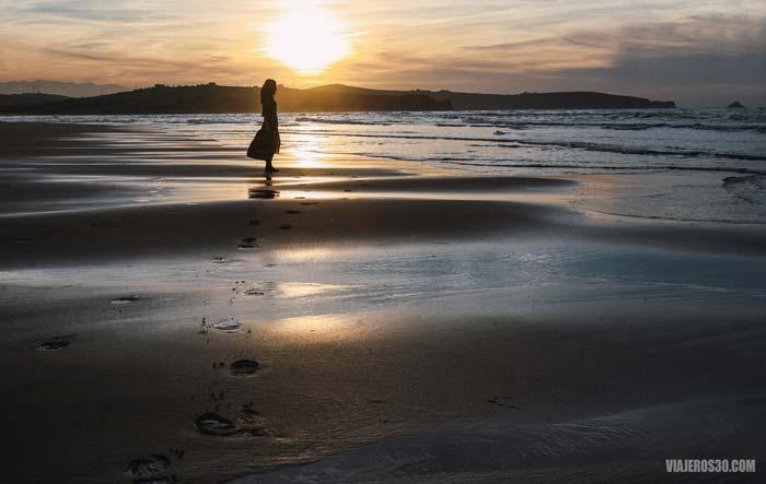 Atardecer en Valdearenas, playas de Cantabria