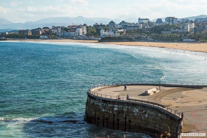 Playas de El Sardinero en Santander, Cantabria