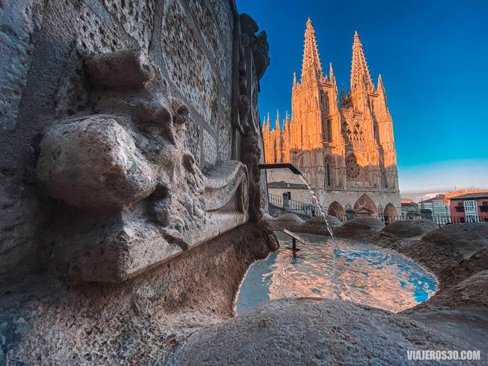 Camino de Santiago, atardecer Catedral de Burgos