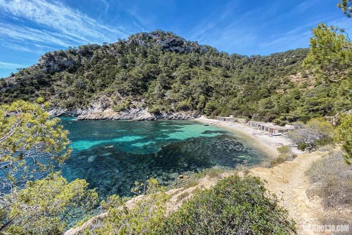 Cala Llentrisca, calas y playas de Ibiza más desconocidas