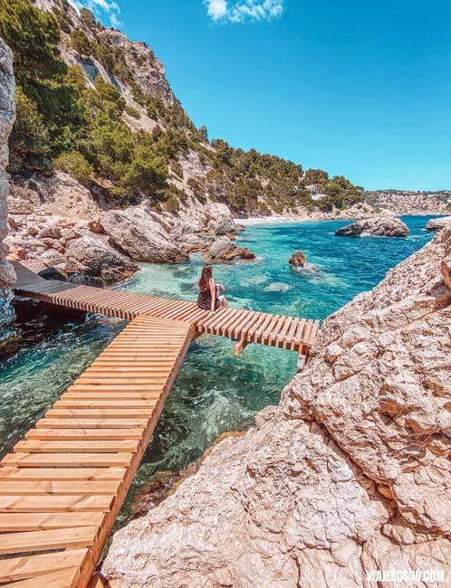 Cala Es Niu de S'Aguila en Ibiza